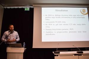 """VU KF Informacijos ir komunikacijos instituto lektorius dokt. Justas Gribovskis skaitė pranešimą """"Didieji duomenys – šiuolaikinis žinių variklis"""""""