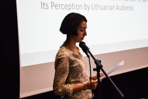 "Vilnius University Faculty of Communication  ""Erasmus+"" programme student Elif Helin Kılınç gave a report ""How TV Series Affect Intercultural Communication: Turkey-Lithuania"" (supervisor – doc. dr. Beata Grebliauskienė)"